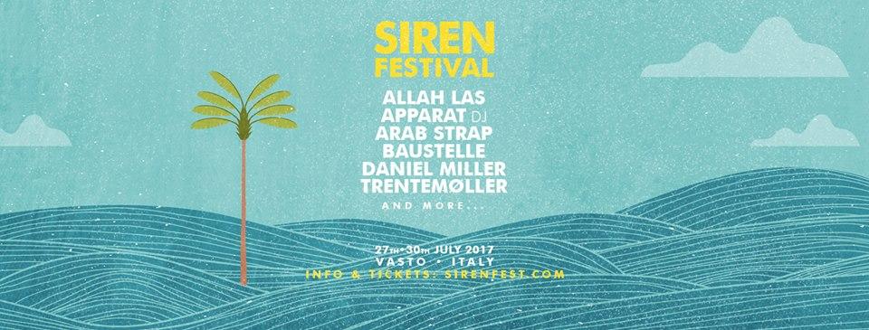 Vasto Siren Festival 2017: I primi nomi